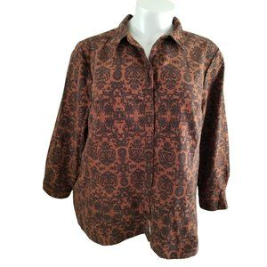 Catherines Brown and Black Sueded Shirt JJ567